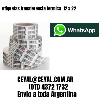 etiquetas transferencia termica  12 x 22