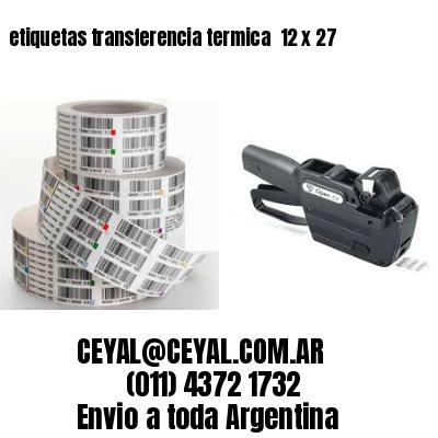 etiquetas transferencia termica  12 x 27