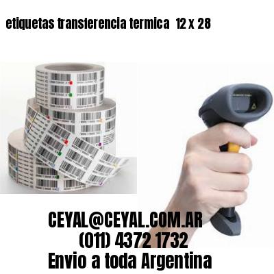 etiquetas transferencia termica  12 x 28