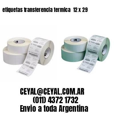 etiquetas transferencia termica  12 x 29