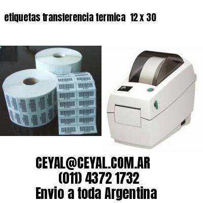 etiquetas transferencia termica  12 x 30