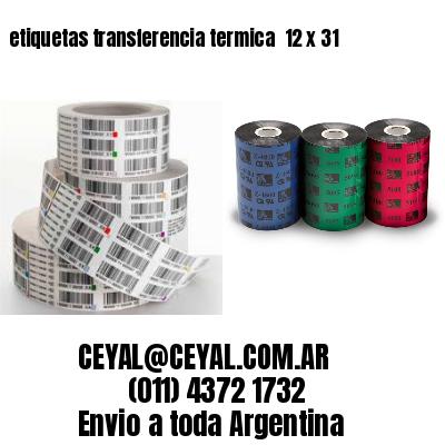 etiquetas transferencia termica  12 x 31