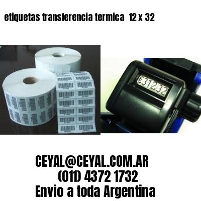etiquetas transferencia termica  12 x 32