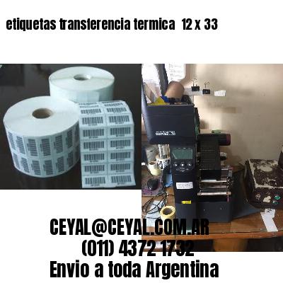 etiquetas transferencia termica  12 x 33