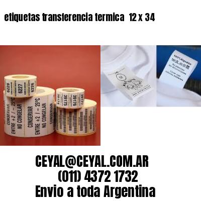 etiquetas transferencia termica  12 x 34