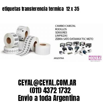 etiquetas transferencia termica  12 x 35