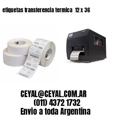 etiquetas transferencia termica  12 x 36