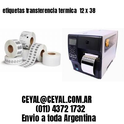 etiquetas transferencia termica  12 x 38