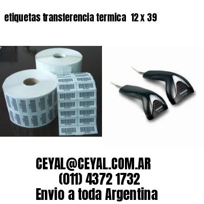 etiquetas transferencia termica  12 x 39