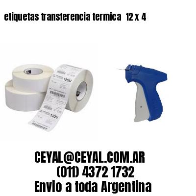 etiquetas transferencia termica  12 x 4