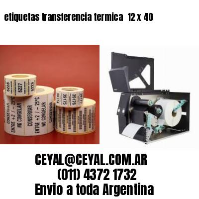 etiquetas transferencia termica  12 x 40