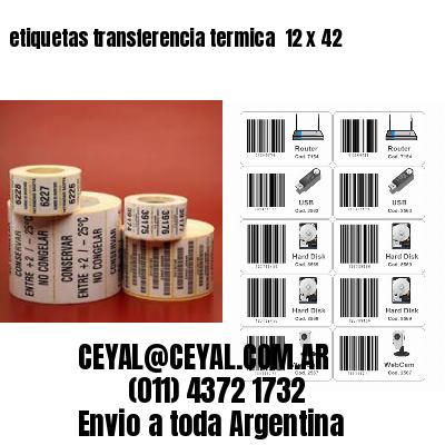 etiquetas transferencia termica  12 x 42