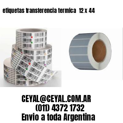 etiquetas transferencia termica  12 x 44