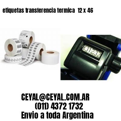 etiquetas transferencia termica  12 x 46