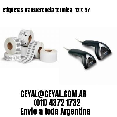 etiquetas transferencia termica  12 x 47
