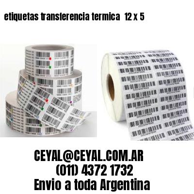 etiquetas transferencia termica  12 x 5