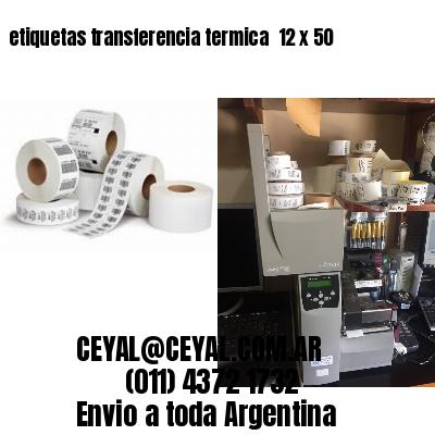 etiquetas transferencia termica  12 x 50