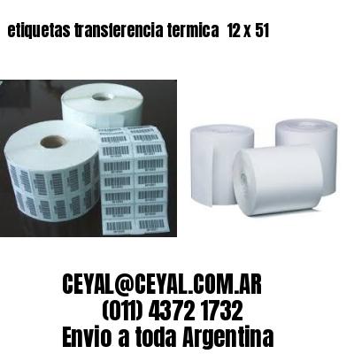 etiquetas transferencia termica  12 x 51