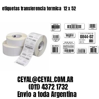 etiquetas transferencia termica  12 x 52