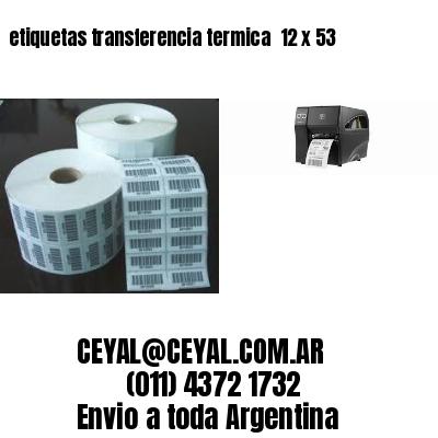 etiquetas transferencia termica  12 x 53