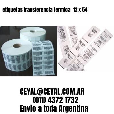 etiquetas transferencia termica  12 x 54