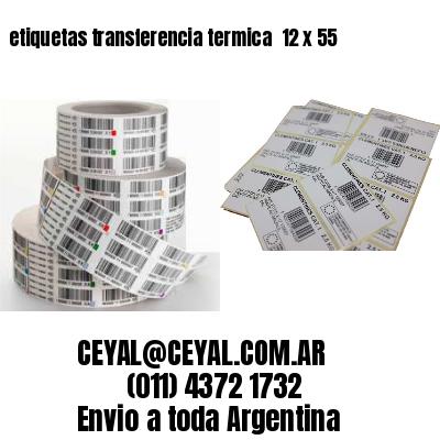 etiquetas transferencia termica  12 x 55