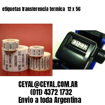 etiquetas transferencia termica  12 x 56