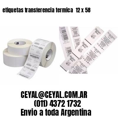 etiquetas transferencia termica  12 x 58