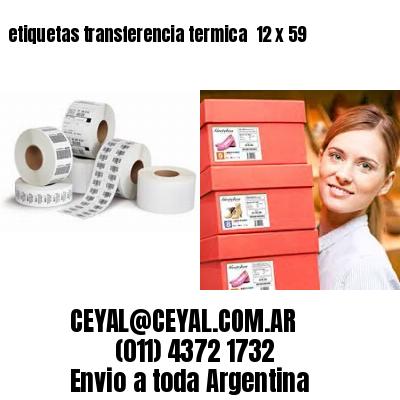 etiquetas transferencia termica  12 x 59