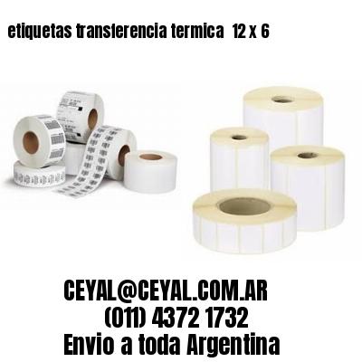 etiquetas transferencia termica  12 x 6