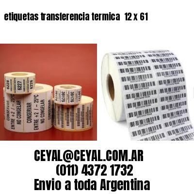 etiquetas transferencia termica  12 x 61