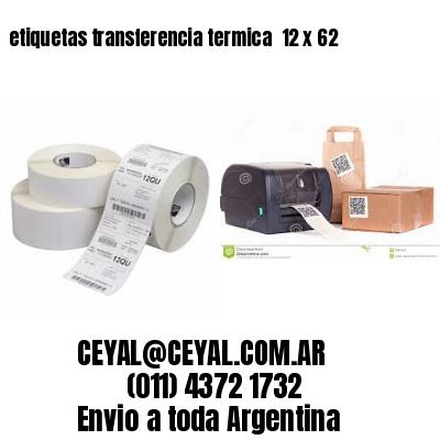 etiquetas transferencia termica  12 x 62