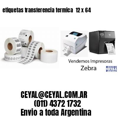 etiquetas transferencia termica  12 x 64