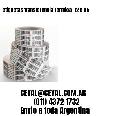 etiquetas transferencia termica  12 x 65
