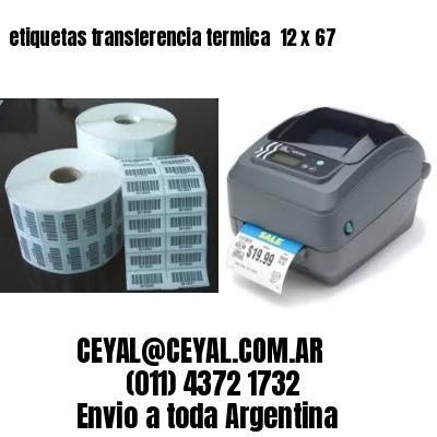 etiquetas transferencia termica  12 x 67