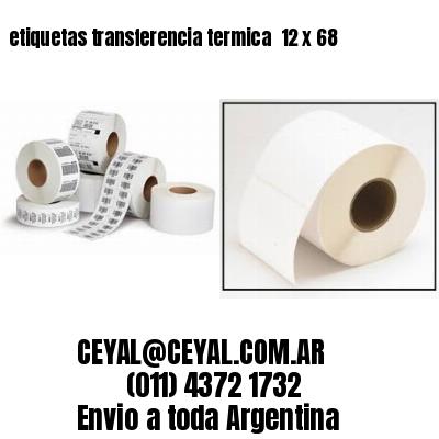 etiquetas transferencia termica  12 x 68