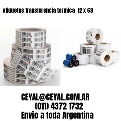 etiquetas transferencia termica  12 x 69