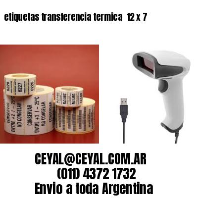 etiquetas transferencia termica  12 x 7