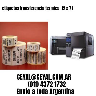etiquetas transferencia termica  12 x 71