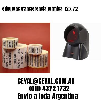 etiquetas transferencia termica  12 x 72
