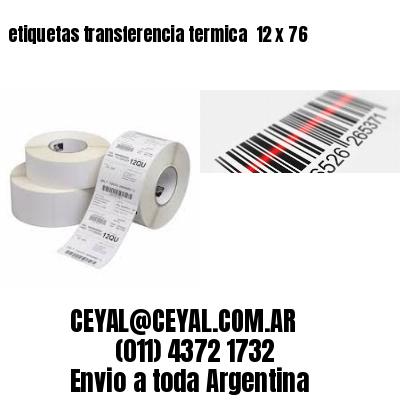 etiquetas transferencia termica  12 x 76