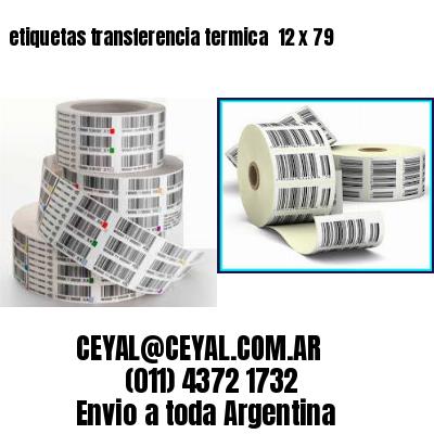 etiquetas transferencia termica  12 x 79