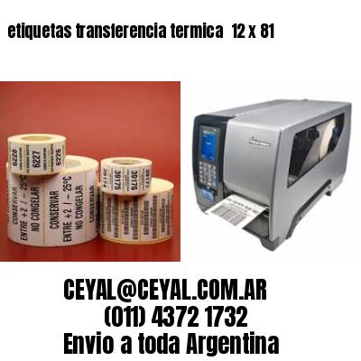 etiquetas transferencia termica  12 x 81