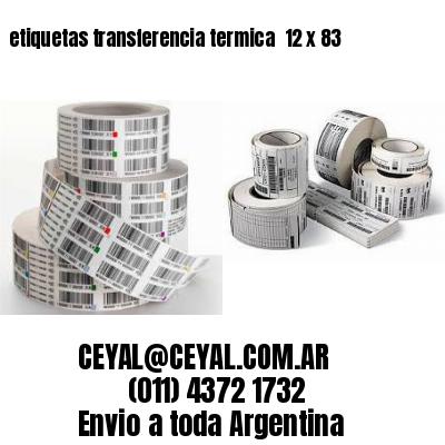 etiquetas transferencia termica  12 x 83