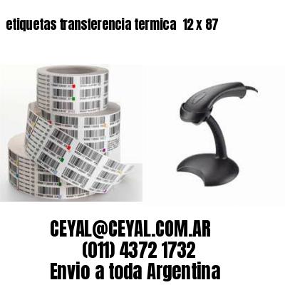 etiquetas transferencia termica  12 x 87
