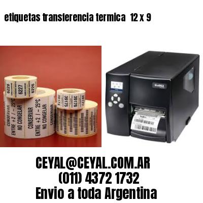 etiquetas transferencia termica  12 x 9