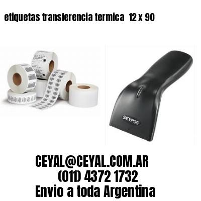 etiquetas transferencia termica  12 x 90