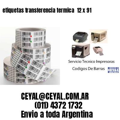 etiquetas transferencia termica  12 x 91