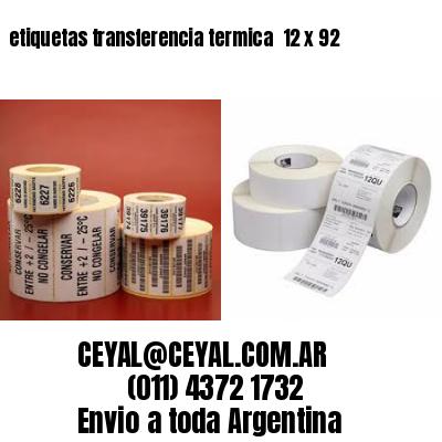 etiquetas transferencia termica  12 x 92