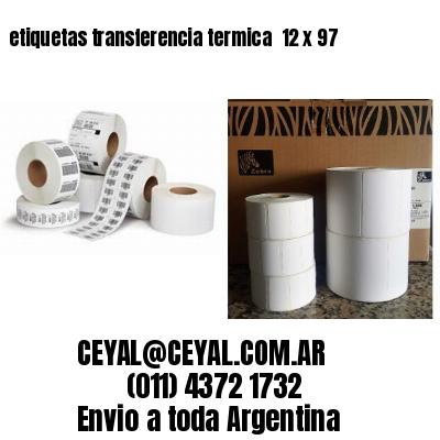 etiquetas transferencia termica  12 x 97